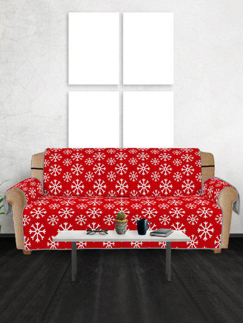 Christmas Snowflake Pattern Couch Cover