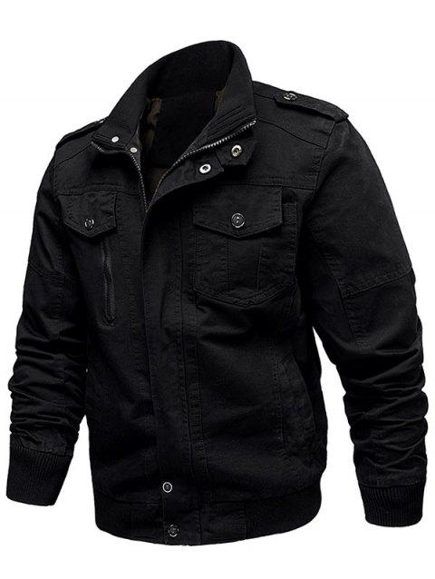 Cargo Jacket - BLACK XL