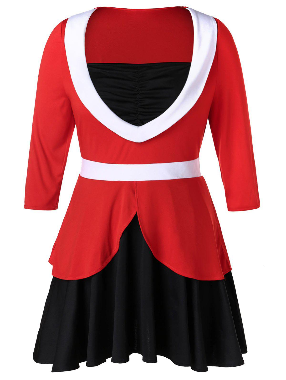 Plus Size Half Sleeve Ruched Long T-shirt