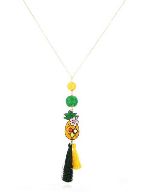 Pineapple Knitted Ball Sweater Chain - GOLD