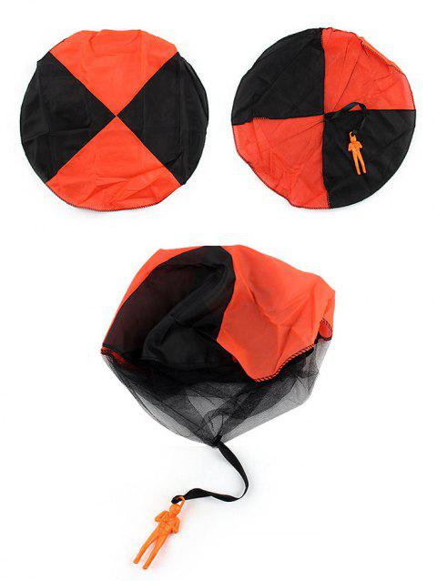 Hand Throwing Soldier Parachute Toy for Kids - ORANGE