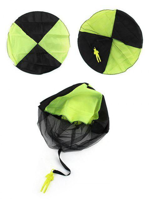 Hand Throwing Soldier Parachute Toy for Kids - CHARTREUSE
