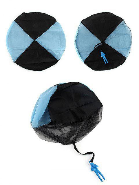 Hand Throwing Soldier Parachute Toy for Kids - SKY BLUE