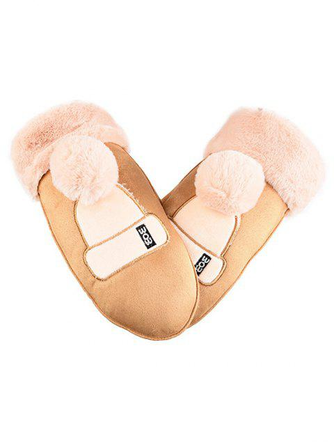 Cute Hat Decorative Mitten Gloves - ORANGE GOLD