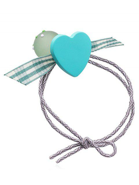 Heart Plaid Pattern Bowknot Hair Band - CELESTE