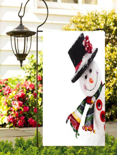 Christmas Hatted Snowman Print Garden Flag - multicolor 1PC X 12 X 18 INCH( NO FRAME )