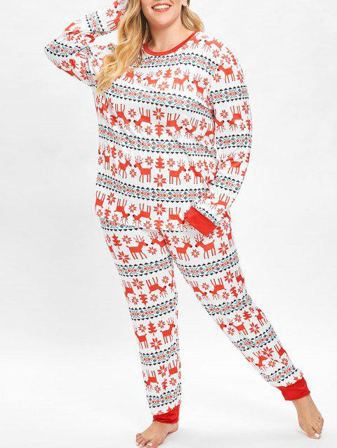 Plus Size Christmas Pajamas.Plus Size Christmas Elk Pajamas