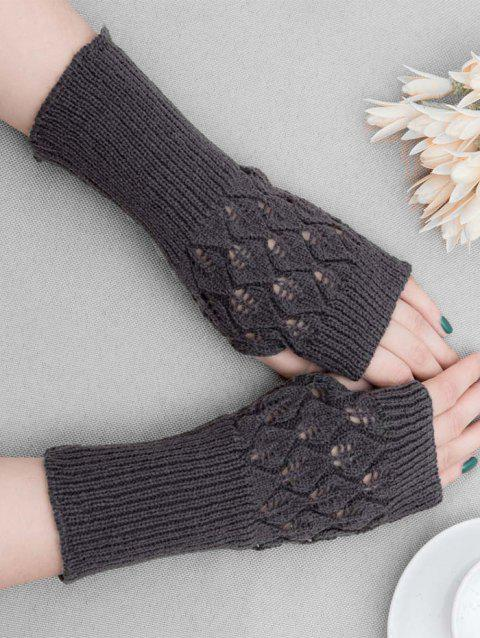 Winter Hollow Out Knitted Gloves - DARK GRAY