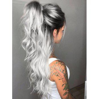 Middle Part Long Ombre Wavy Party Synthetic Wig