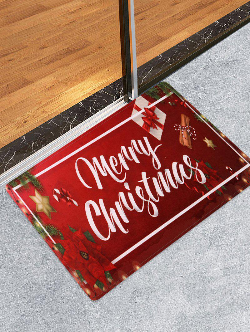 Merry Christmas Gift Printed Floor Mat - RED W16 X L24 INCH