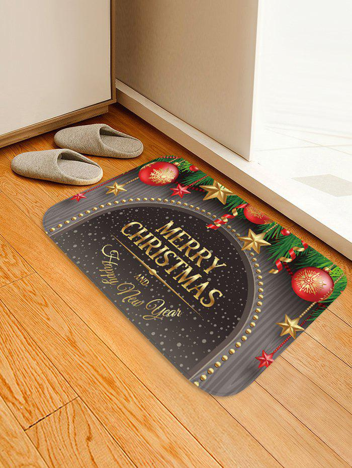 Merry Christmas Balls Pattern Water Absorption Floor Rug - multicolor W16 X L24 INCH