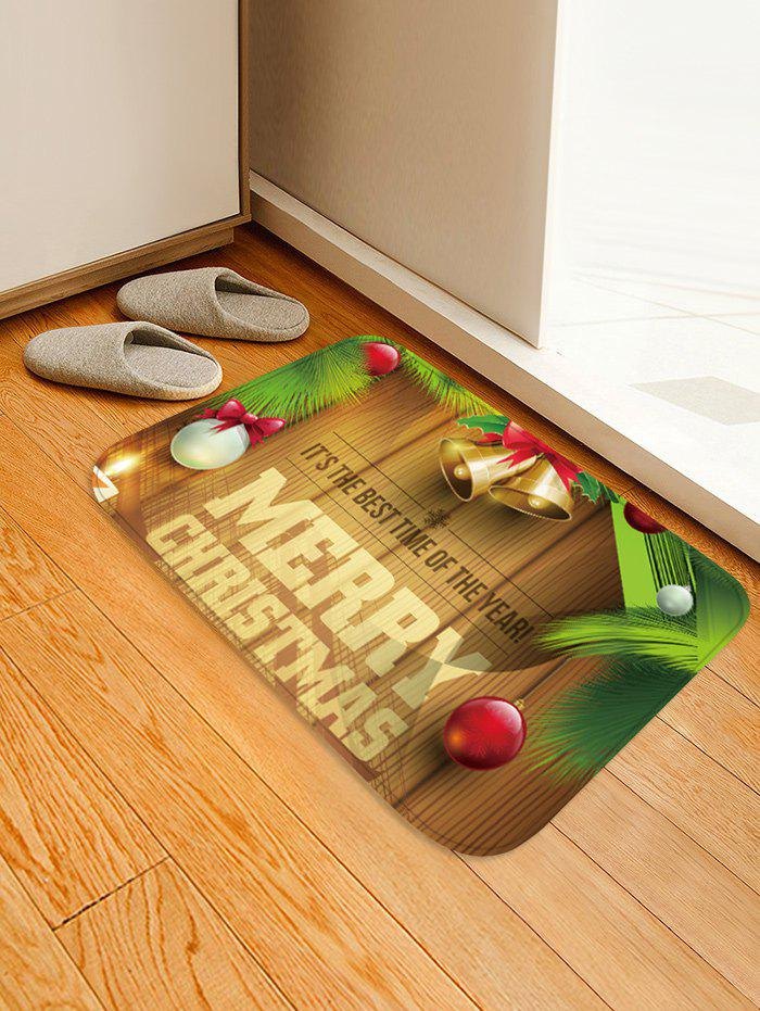 Christmas Bells Blessing Pattern Water Absorption Area Rug - multicolor W20 X L31.5 INCH