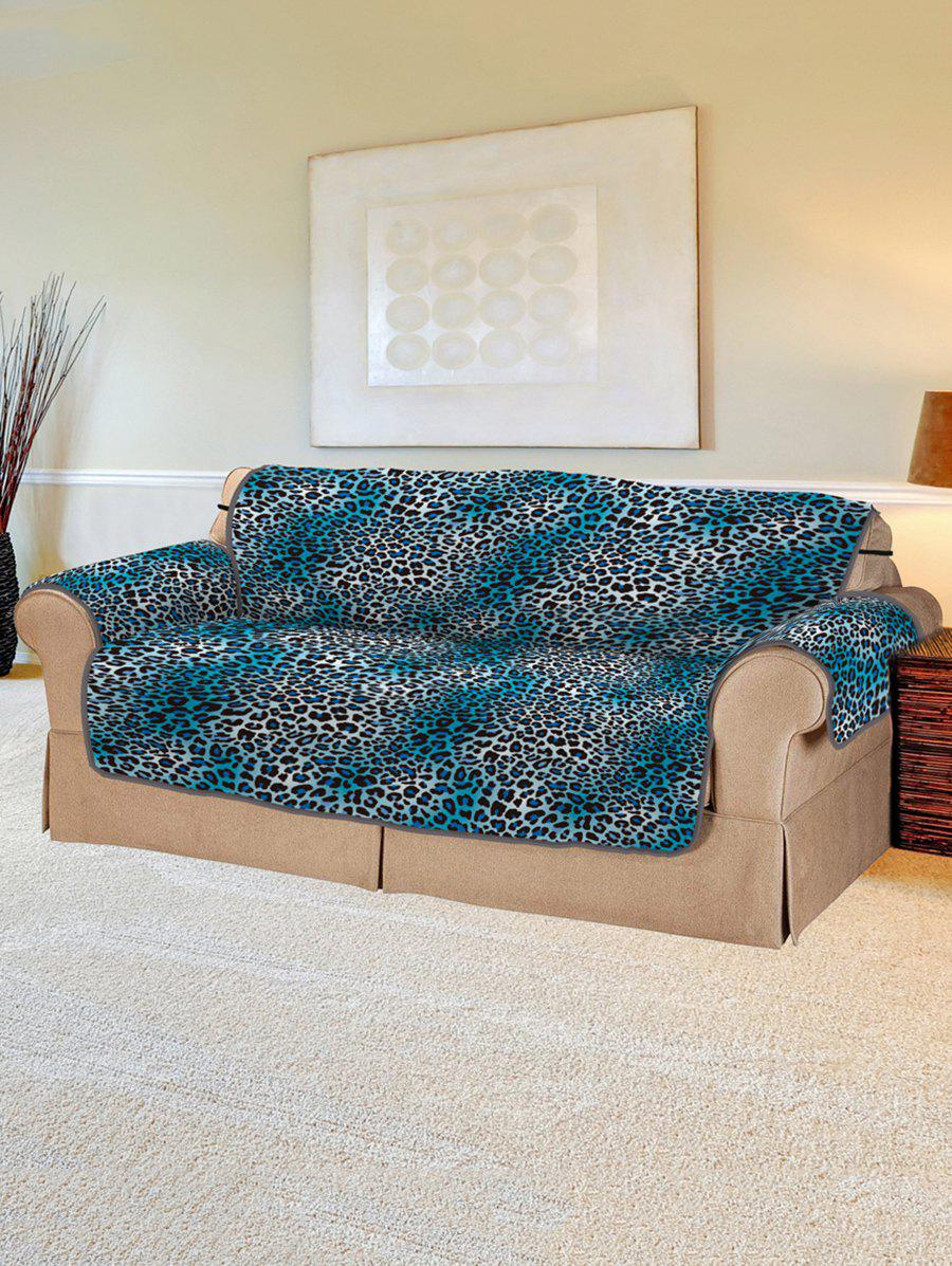 Leopard Pattern Couch Cover - multicolor TWO SEATS