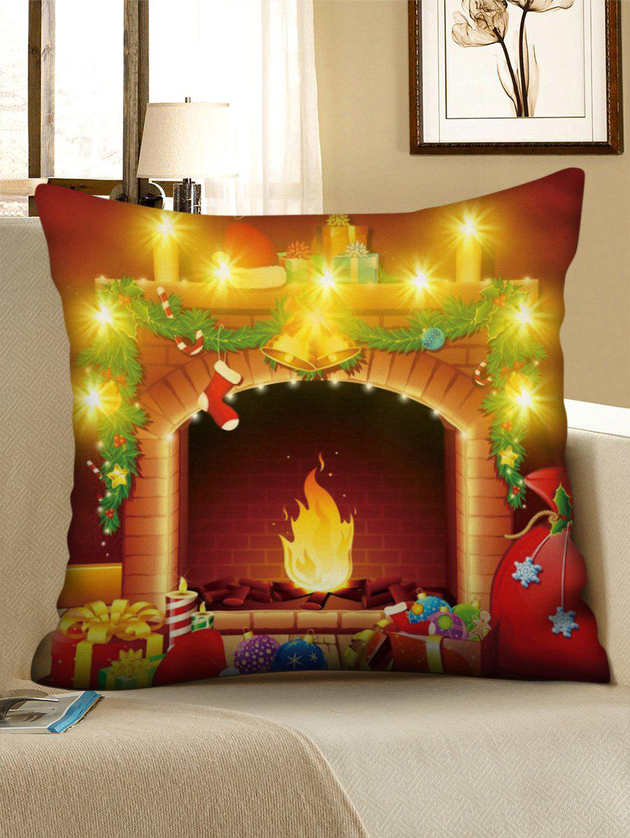 Christmas Bells Gift Print LED Light Pillowcase - LAVA RED W18 X L18 INCH