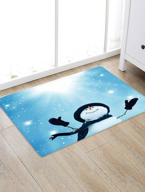Sunlight Christmas Snowman Pattern Water Absorption Area Rug - multicolor W24 X L35.5 INCH