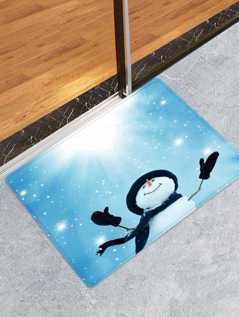 Sunlight Christmas Snowman Pattern Water Absorption Area Rug - multicolor W16 X L24 INCH