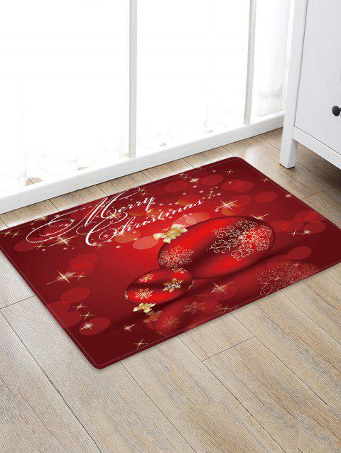 Merry Christmas Balls Pattern Water Absorbing Area Rug - multicolor W24 X L35.5 INCH