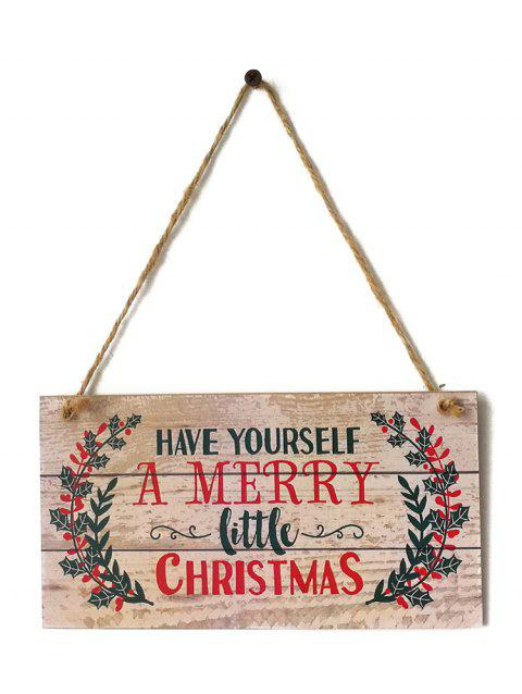 07595a9ff11 54% OFF  2019 Merry Christmas Sign Wooden Hanging Decoration In ...