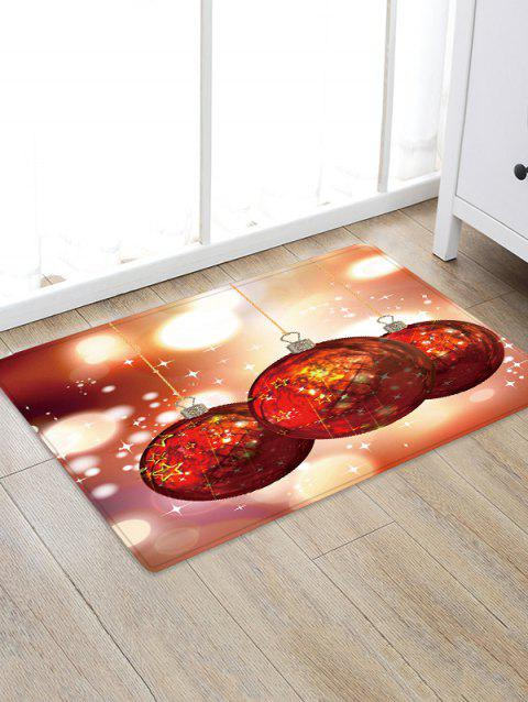 Christmas Ball Pattern Water Absorbing Area Rug - multicolor W24 X L35.5 INCH