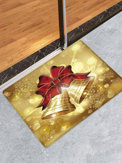 Christmas Bowknot Bells Pattern Water Absorbing Floor Rug - multicolor W16 X L24 INCH