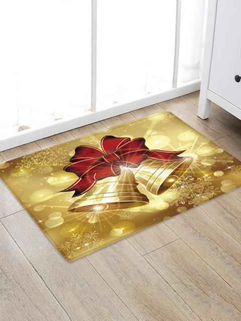 Christmas Bowknot Bells Pattern Water Absorbing Floor Rug - multicolor W24 X L35.5 INCH