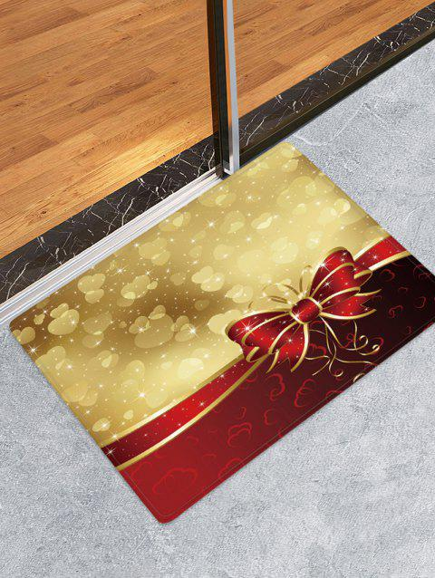 Christmas Bowknot Hearts Pattern Water Absorption Area Rug - multicolor W16 X L24 INCH