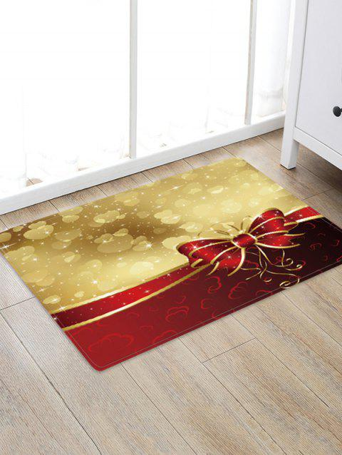 Christmas Bowknot Hearts Pattern Water Absorption Area Rug - multicolor W24 X L35.5 INCH