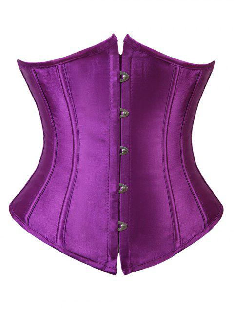 Plus Size Back Lace Up Corset - PURPLE 6X
