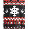 Plus Size Christmas Print Drawstring Hooodie - multicolor A 3X