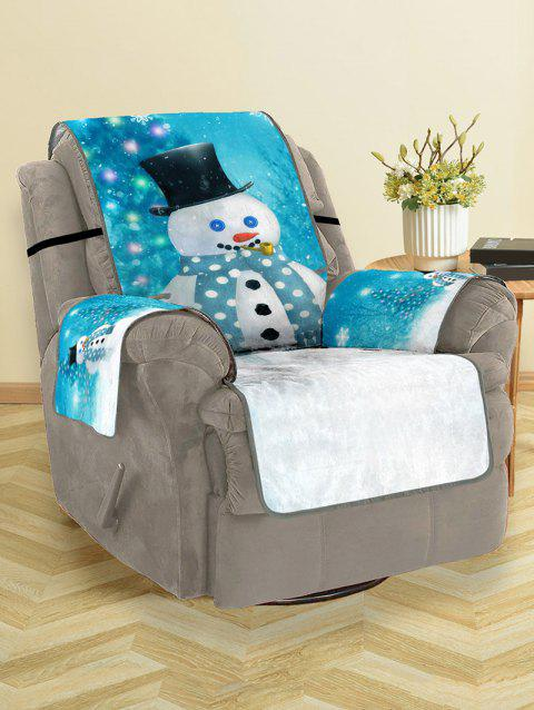 Christmas Tree Snowman Pattern Couch Cover - multicolor SINGLE SEAT