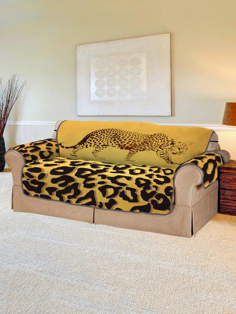 Leopard Pattern Protector Couch Cover - multicolor TWO SEATS