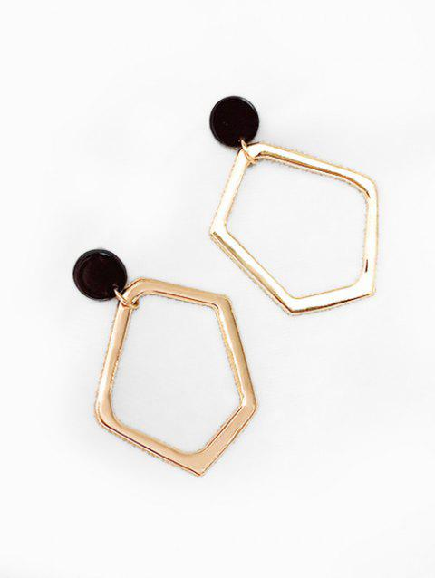 Geometric and Round Shape Hollow Earrings - GOLD