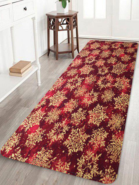 Christmas Snowflake Pattern Water Absorption Floor Rug - multicolor W16 X L47 INCH