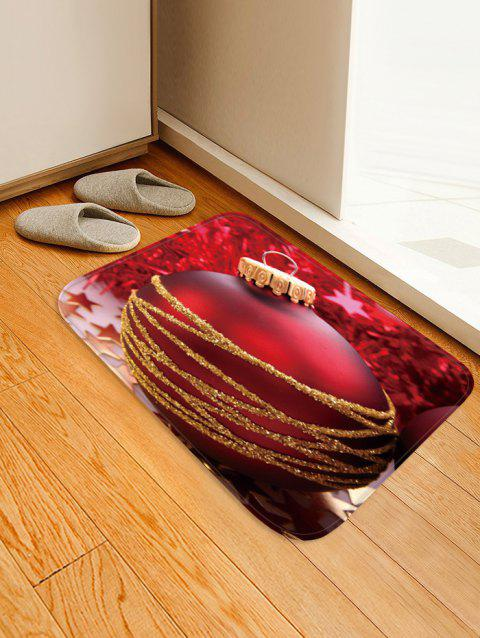 Christmas Ball Pattern Water Absorption Floor Rug - multicolor W16 X L24 INCH