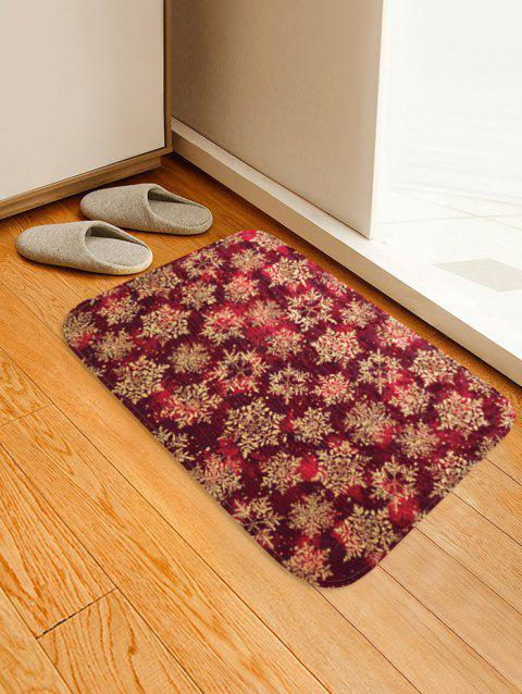 Christmas Snowflake Pattern Water Absorption Floor Rug - multicolor W16 X L24 INCH