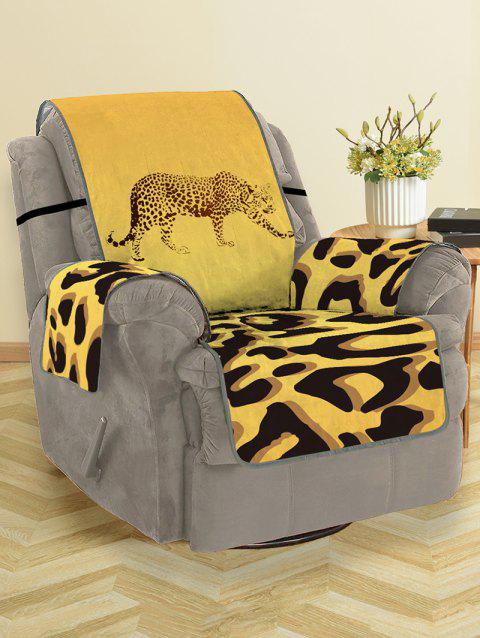 Leopard Pattern Protector Couch Cover - multicolor SINGLE SEAT