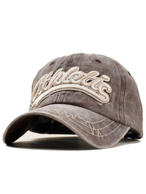 Stylish Letter Embroidery Adjustable Sport Hat - COFFEE