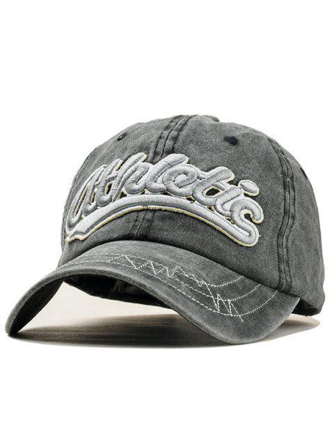 Stylish Letter Embroidery Adjustable Sport Hat - BLACK