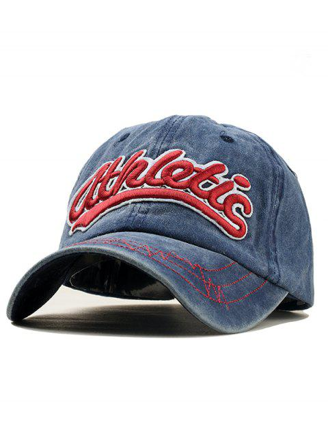 Stylish Letter Embroidery Adjustable Sport Hat - BLUE