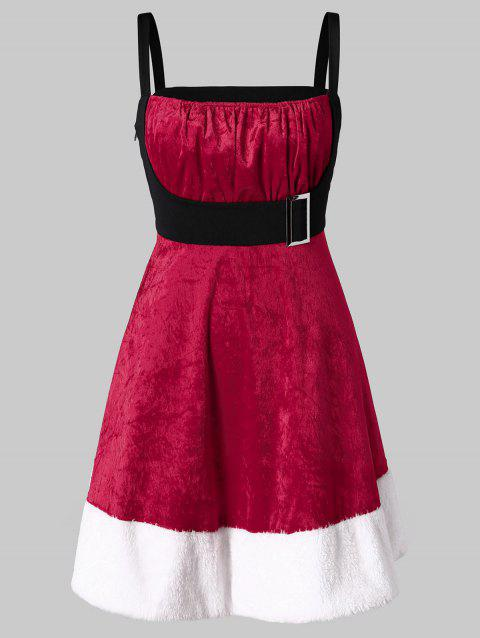 Plus Size Velvet Santa Claus Christmas Dress