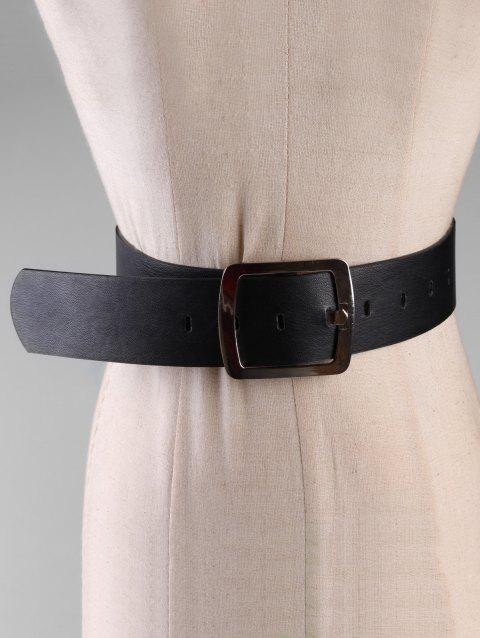 fd35bc35574 Metal Square Buckle Faux Leather Waist Belt