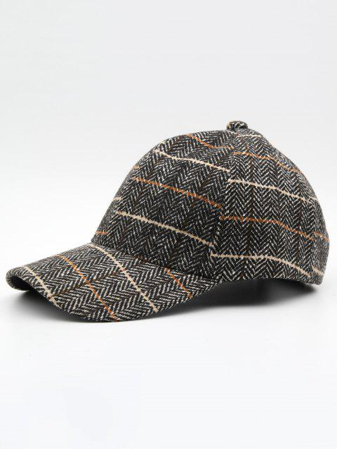 Stylish Plaid Adjustable Duckbill Cap - KHAKI