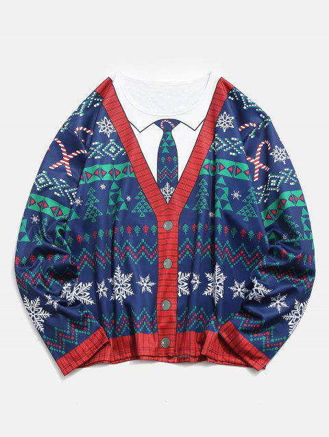 Plus Size Christmas 3D Printed Pullover T-shirt