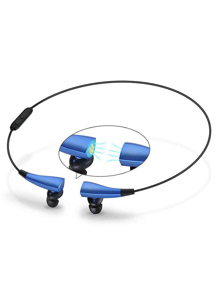 Bluetooth Wireless Magnetic Sense Earphones with Mic - DODGER BLUE