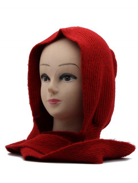 70e193b9a9e 2018 Winter Ear Protection Warm Knitted Bucket Hat In RED ...
