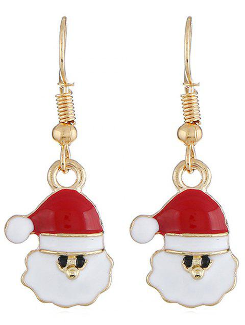Alloy Christmas Santa Claus Earrings - GOLD