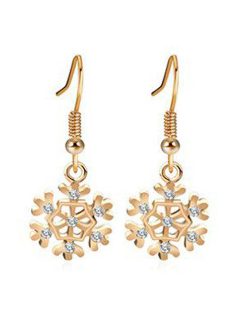 Christmas Hollow Out Snow Design Earrings - GOLD