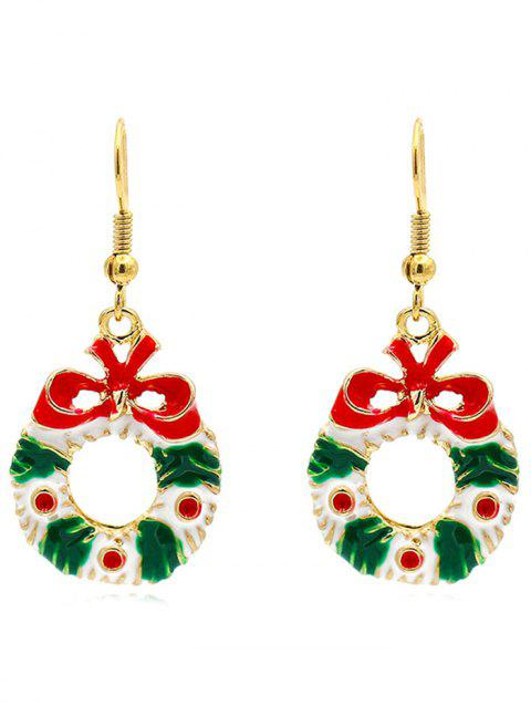 Floral Garland Bowknot Decorative Earrings - GOLD