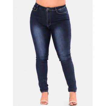 Plus Size High Waisted Skinny Jeans