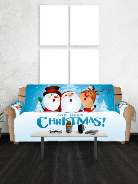 Christmas Friends Pattern Couch Cover - multicolor THREE SEATS
